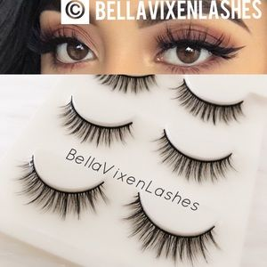 Other - 3 Pairs Natural Faux Mink Lashes